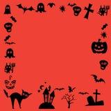 Het gelukkige Vectorontwerp van Halloween Stock Foto's