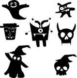 Het gelukkige Vectorontwerp van Halloween Stock Afbeeldingen