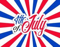 Het gelukkige Vierde van de de Onafhankelijkheidsdag van de V.S. van Juli viert stock illustratie