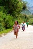 Het gelukkige Vietnamese kinderen spelen Royalty-vrije Stock Afbeeldingen