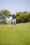 Het gelukkige vliegen royalty-vrije stock foto's