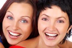Het gelukkige vrienden lachen Royalty-vrije Stock Afbeelding