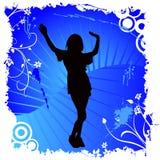 Het gelukkige vrouw dansen Royalty-vrije Stock Foto's