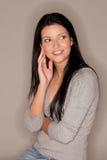 Het gelukkige vrouw glimlachen Royalty-vrije Stock Afbeeldingen