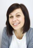 Het gelukkige vrouw glimlachen Royalty-vrije Stock Foto's