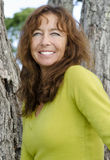 Het gelukkige vrouw lachen Royalty-vrije Stock Foto's