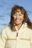 Het gelukkige vrouw lachen Royalty-vrije Stock Fotografie