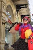 Het gelukkige vrouw winkelen Royalty-vrije Stock Afbeeldingen
