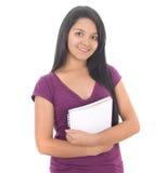Het gelukkige vrouwelijke student glimlachen Stock Afbeeldingen