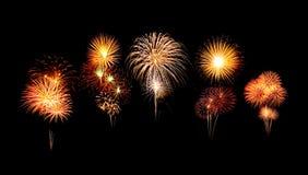 Het gelukkige vuurwerk van de Nieuwjaarviering Royalty-vrije Stock Foto