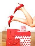 Het gelukkige winkelen Royalty-vrije Stock Foto's