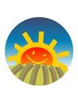 Het gelukkige zon toenemen Royalty-vrije Stock Foto's