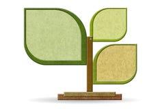 Het gemaakte ââfrom gerecycleerde hout van het teken raad Stock Foto's