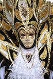 Het gemaskeerde model van Venetië Carnaval stock afbeelding