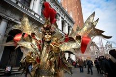 Het gemaskeerde model van Venetië Carnaval Royalty-vrije Stock Fotografie