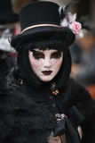 Het gemaskeerde model van Venetië Carnaval Stock Fotografie