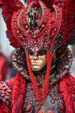 Het gemaskeerde model van Venetië Carnaval royalty-vrije stock afbeelding