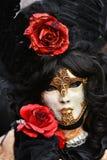 Het gemaskeerde model van Venetië Carnaval royalty-vrije stock foto's