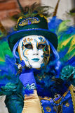 Het gemaskeerde model van Venetië Carnaval royalty-vrije stock afbeeldingen