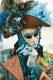 Het gemaskeerde model van Venetië Carnaval stock foto