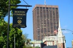 Het Gemeenschappelijke teken van Boston, Boston, Massachusetts, de V.S. Stock Afbeelding