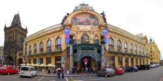 Het Gemeentelijke Huis van Praag, Tsjechische Republiek Stock Foto's