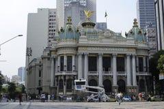 Het gemeentelijke Theater in Rio de Janeiro brazilië Royalty-vrije Stock Afbeelding