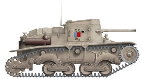 Het gemotoriseerde kanon van Ansaldo vector illustratie