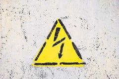 Het generische Teken van het Hoogspanningsgevaar, symbool waarschuwingspictogram stock afbeelding