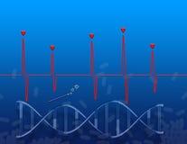 Het genetische mirakel vector illustratie