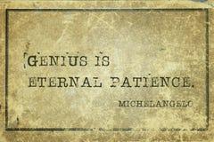 Het genie is geduld Michelangelo royalty-vrije stock foto's