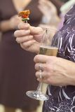 Het genieten van de van cocktail party Stock Foto's