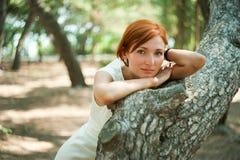 Het genieten van de van stilte van het bos Royalty-vrije Stock Afbeeldingen