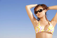 Het genieten van de van zon Stock Foto's