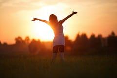 Het genieten van de van Zonsondergang stock afbeeldingen