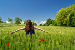 Het genieten van het van ogenblik! Stock Foto's