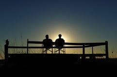 Het genieten van van Sundowner (Namibië) Stock Foto's