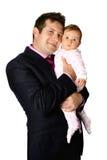 Het genieten van van zijn baby Royalty-vrije Stock Fotografie