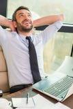 Het genieten van van zijn minieme onderbreking Stock Foto's