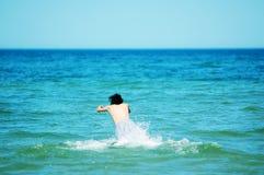 Het genieten van van zomer Stock Foto's