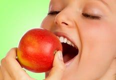 Het genoegen van de appel. Stock Foto's