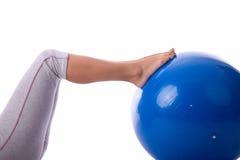 Het genoegen van Pilates Stock Afbeeldingen