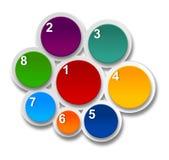 Het genummerde ontwerp van de infographicslijst. Royalty-vrije Stock Foto's