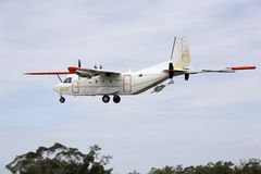 Het geofysische Vliegtuig van het Onderzoek royalty-vrije stock afbeeldingen