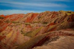 Het Geologische Park van Zhangyedanxia Royalty-vrije Stock Foto