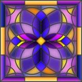 Het geometrische abstracte beeld van de gebrandschilderd glasillustratie vector illustratie