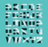 Het geometrische alfabet van de vormen moderne experimentele doopvont Brieven van de bekledings de transparante stijl De gemakkel Royalty-vrije Stock Afbeelding