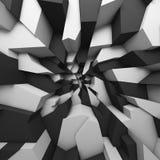 Het geometrische behang van kleuren abstracte veelhoeken, als barstmuur Royalty-vrije Stock Afbeeldingen