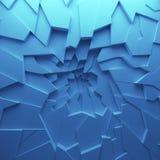 Het geometrische behang van kleuren abstracte veelhoeken, als barstmuur Royalty-vrije Stock Foto