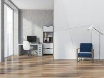 Het geometrische bureau van het patroonhuis, leunstoel, venster Royalty-vrije Stock Afbeelding